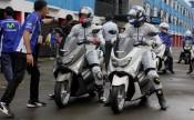 Pebalap Yamaha Indonesia - Imanuel Pratna dan Rey Ratukore - dalam test ride NMAX di Sentul International Circuit